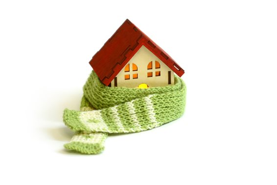 Warm house - with scarf