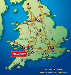 Map Of Wales Uk.Leaflets And Maps Newport City Council