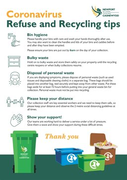 Coronavirus Refuse and Recycling Tips Poster Newport_Page_1